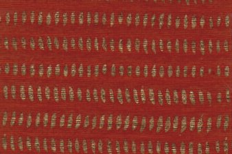 Block Print Paper Kilim Brick Red