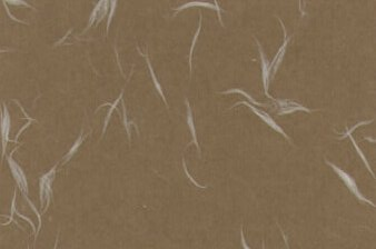 Tairei Paper White Fiber on Brown