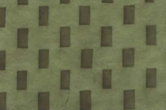 Lokta Sun Washed Brick Paper Forest & Palm Green