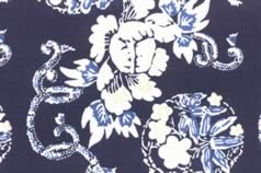 Washi Print Paper Navy Blue w Flowers