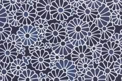 Washi Print Paper Blue Flowers