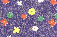 Washi Print Paper Blue w Small Flowers & Gold