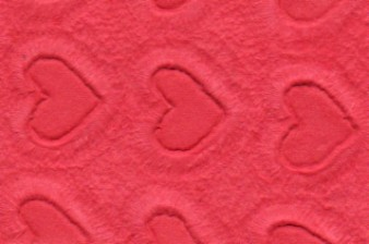 Embossed Floating Hearts Paper Red