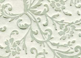 Embossed Floral Paper Dove Gray & White
