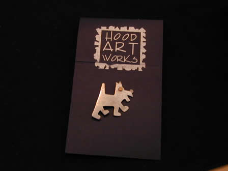 Sterling Art Pin Terrier