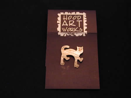 Sterling Art Pin Cat