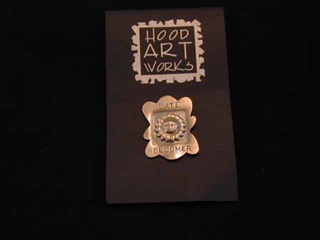 Sterling Art Pin Late Bloomer