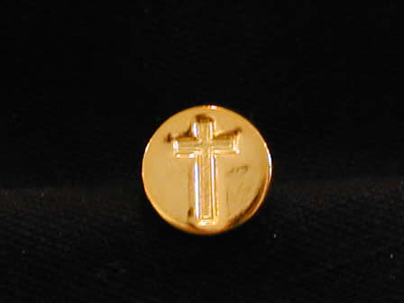 Wax Seal Brass Round Cross