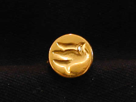 Wax Seal Brass Round Dove