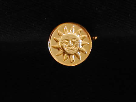 Wax Seal Brass Round Sun