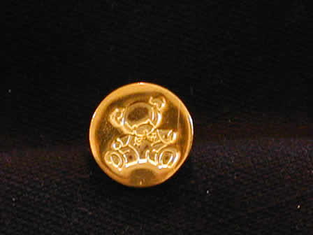 Wax Seal Brass Round Teddy Bear