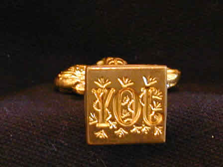 Wax Seal Brass Square Joy