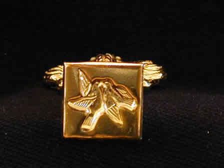 Wax Seal Brass Square Turtle Doves