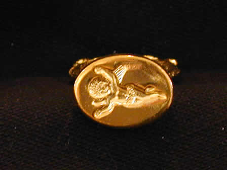 Wax Seal Brass Oval Angel