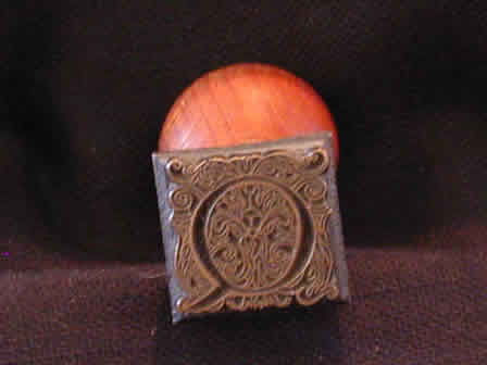 Wax Seal Brass w Wood Q