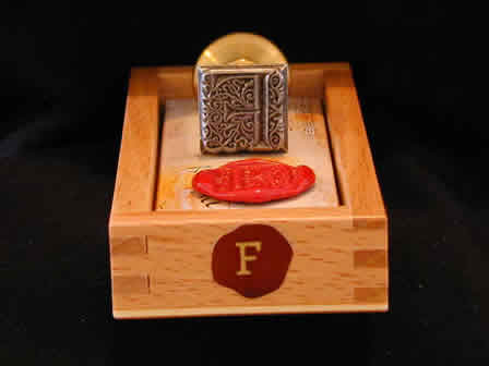 Wax Seal Square Metal F -Box