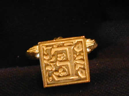 Wax Seal Brass Square E