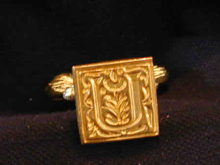 Wax Seal Brass Square U