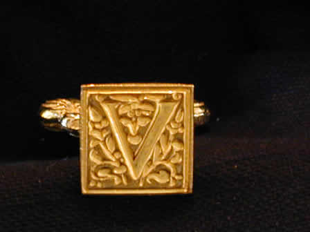 Wax Seal Brass Square V