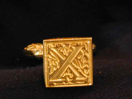 Wax Seal Brass Square X