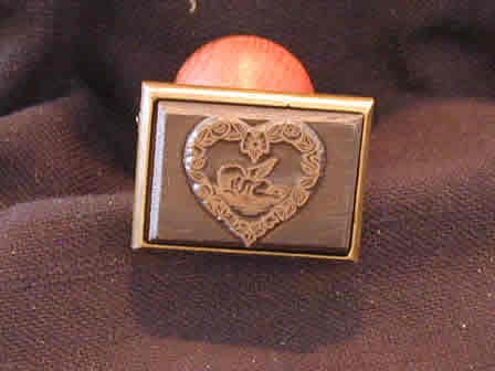Wax Seal Angel in Heart